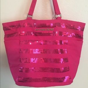 VS Pink Sequin Tote